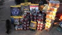 Dringend benötigte Futterlieferung auf Mallorca angekommen